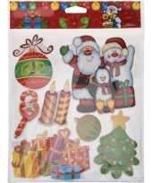 Kerst raamstickers raamdecoratie 3d stickers type 1 29 x 36 cm