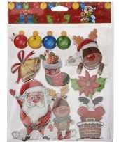Kerst raamstickers raamdecoratie 3d type 2 29 x 36 cm