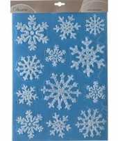 Kerst raamstickers raamdecoratie sneeuwvlok plaatjes 30 x 40 cm