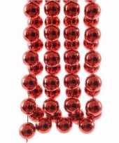 Kerst rode xxl kralenslinger elegant christmas 270 cm