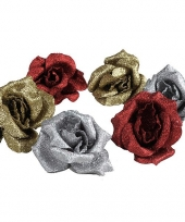 Kerst rozen met clip