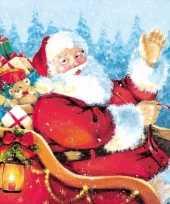 Kerst servetten kerstman thema
