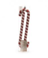 Kerst snoep stokjes plastic 2 stuks