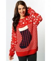 Kerst sweater rood voor vrouwen 10077173