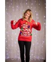 Kerst sweater rood voor vrouwen 10097776