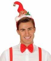 Kerst verkleedset mutsje en strik