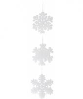 Kerst versiering sneeuwvlok 15 cm 1x