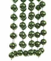 Kerst xxl kralen slinger groen 270 cm