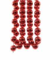 Kerst xxl kralen slinger rood 270 cm