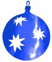 Kerstbal hangversiering blauw 40 cm