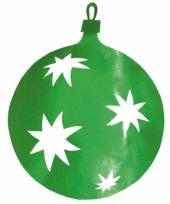 Kerstbal hangversiering groen 30 cm