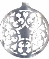 Kerstbal hangversiering zilver 49 cm