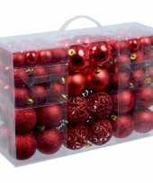 Kerstballen assorti rood 100 stuks