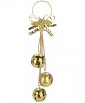 Kerstbellen decoratiehanger goud 50 cm