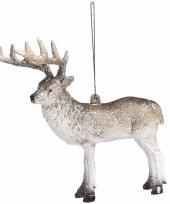 Kerstboom decoratie hanger rendier 15 cm type 1