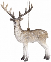 Kerstboom decoratie hanger rendier 15 cm type 2