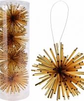 Kerstboom decoratie kerstbol goud 8 cm