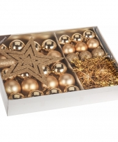 Kerstboom decoratie set 33 delig goud