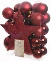Kerstboom optuigen ambiance christmas compleet pakket 33 delig 10097499