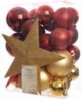 Kerstboom optuigen ambiance christmas compleet pakket 33 delig