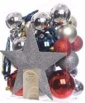 Kerstboom optuigen elegant christmas compleet pakket 33 delig