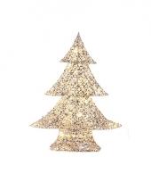 Kerstboompje zilver goud gemeleerd