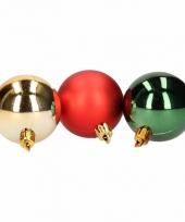 Kerstboomversiering rode en donkergroene ballen 5 cm