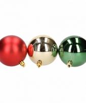 Kerstboomversiering rode en donkergroene ballen 6 cm