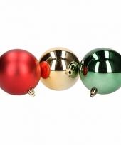 Kerstboomversiering rode en donkergroene ballen 8 cm
