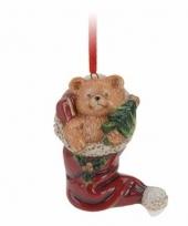 Kersthanger kerstbeer in sok 8 cm