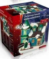 Kersthuisje villa led kerst decoratie 9 x 6 x 9 cm