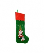 Kerstkous groen met rood 85 cm