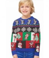 Kerstmis trui little boxes voor kids
