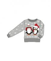 Kerstmis trui met 2 pinguins voor kinderen