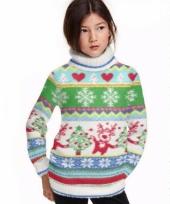Kerstmis trui met col voor kids
