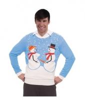 Kerstmis trui met sneeuwman koppel