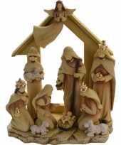 Kerststal met 10 figuren 35 cm