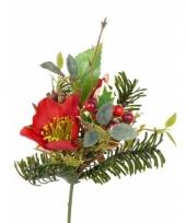 Kerststuk versiering mix wit 17 cm 10051920