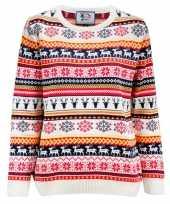 Kersttrui dames met nordic print en hert