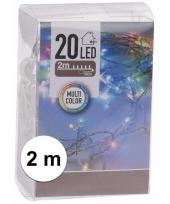 Kerstverlichting op batterij gekleurd 20 lampjes
