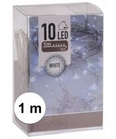 Kerstverlichting op batterij helder wit 10 lampjes