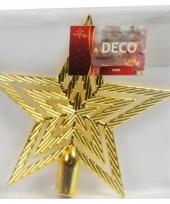 Kerstversiering gouden piek ster 21 cm