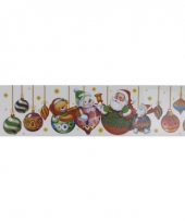 Kerstversiering kerstballen sticker