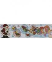 Kerstversiering kerstman sticker 10065456