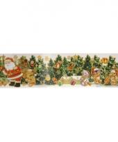 Kerstversiering kerstman sticker 10065461