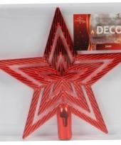 Kerstversiering rode piek ster 21 cm