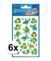 Kikker stickers 6 vellen