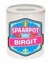 Kinder cadeau spaarpot voor een birgit