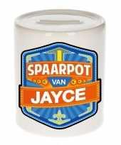 Kinder cadeau spaarpot voor een jayce