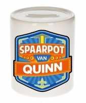 Kinder cadeau spaarpot voor een quinn